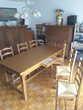 Table en Chêne avec 6 Chaises Meubles