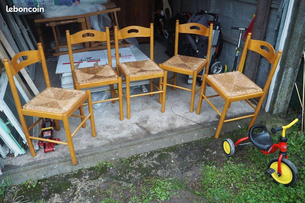 Table en chêne, lot de 4 et lot de 5 chaises  0 Fleury-les-Aubrais (45)