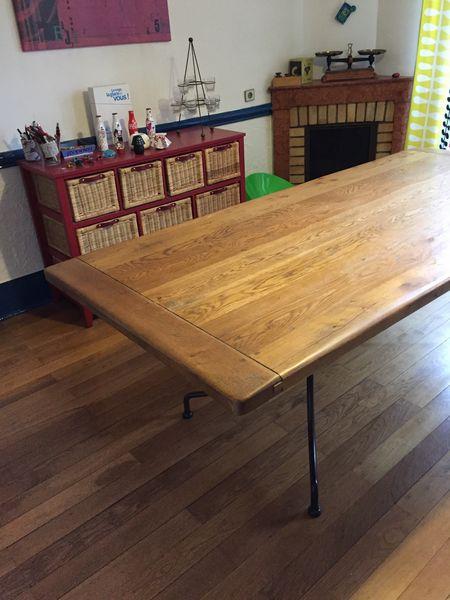 Table chêne et fer forgé 390 Annecy (74)