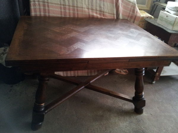 Achetez table ch ne massif occasion annonce vente l 39 ha for Table chene massif rallonge