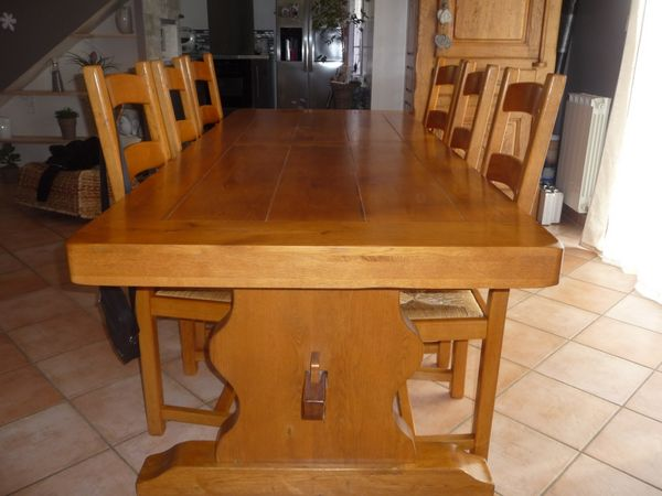 TABLE CHENE MASSIF 500 Mornas (84)