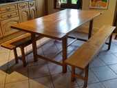 Table en chêne massif + 2 bancs 120 Saint-Folquin (62)