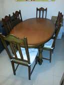 table chêne massif  6 chaises  450 Toulon (83)