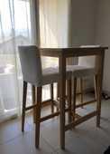 table de bar en chêne massif et ses deux tabourets 120 Vétraz-Monthoux (74)
