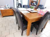 TABLE 100% CHENE MASSIF + CHAISES 800 Noailles (60)