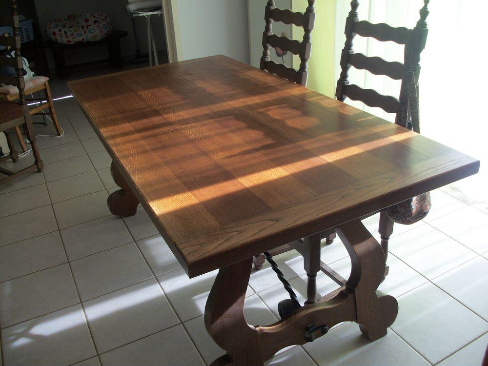 Table en chêne Massif + Chaises +Miroir ancien 0 Saint-Agnant (17)
