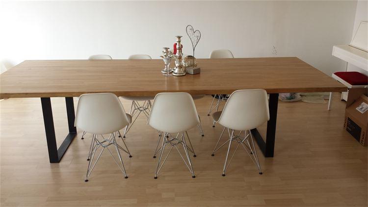 TABLE CHENE   MASSIF ET METAL style industriel  / JIELDE 745 Châtellerault (86)