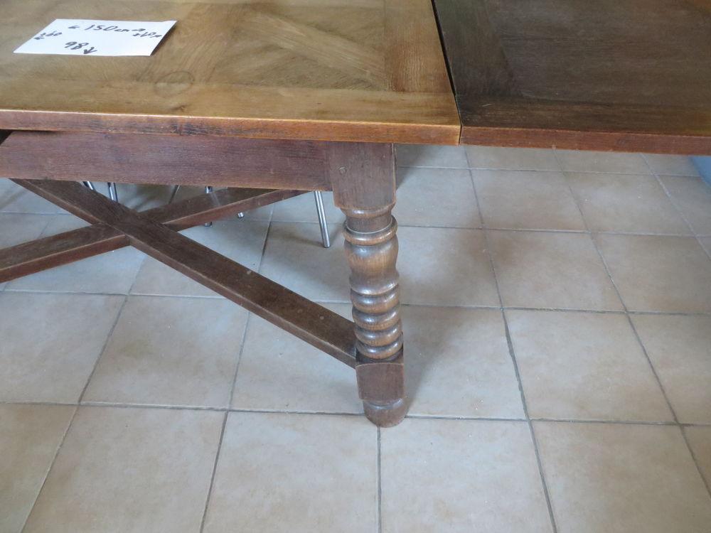 Table  - Chêne massif   150 cm avec 2 Rallonges x 60 cm 60 Lanvallay (22)