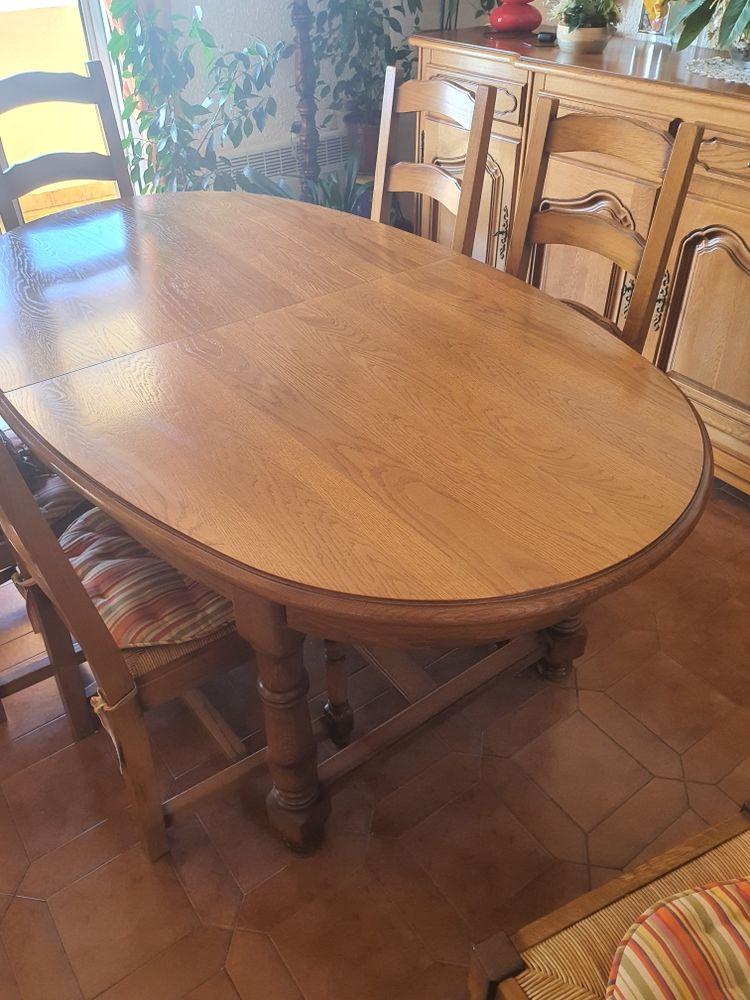 Table chêne ovale   6 chaises 60 Six-Fours-les-Plages (83)