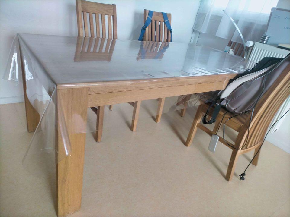 Table en chêne 6/8 personnes + 6 chaises + 2 rallonges 450 Bouchain (59)