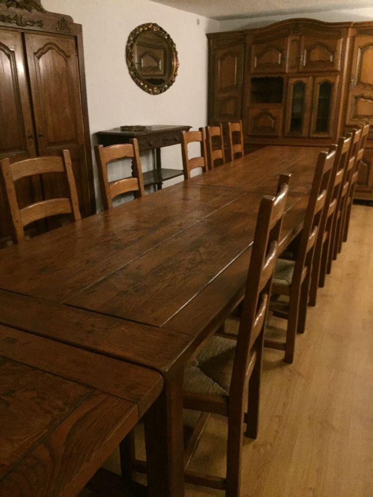 Table en chêne rustique  2500 Seix (09)