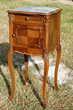 table de chevet gueridon ancien bois scuplté marbre superbe