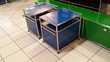 table de chevet usm haller bleue gentiane 1 tiroir