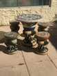 Table chinoise en céramique avec ses 4 tabourets