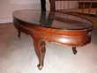 Table chinoise ovale peinte à la main