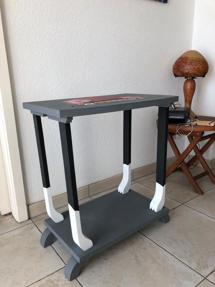 Table console en bois relookee 80 Hœrdt (67)
