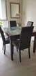 Table contempraine bois et verre avec rallongé intégrée Meubles