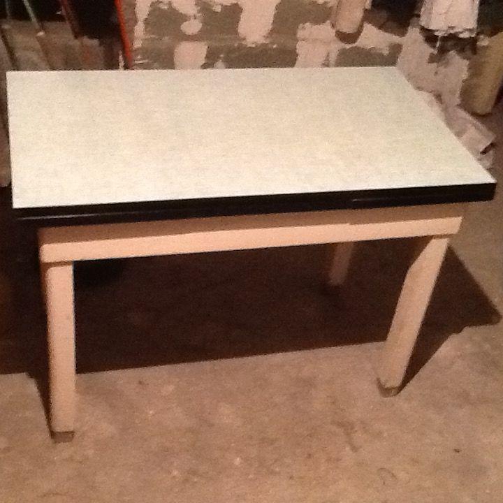 table de cuisine des annees 60, Formica vert d'eau, 50 Soisy-sous-Montmorency (95)