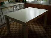 table de cuisine ,bois blanc patiné jaune haute qualité 300 Quimper (29)