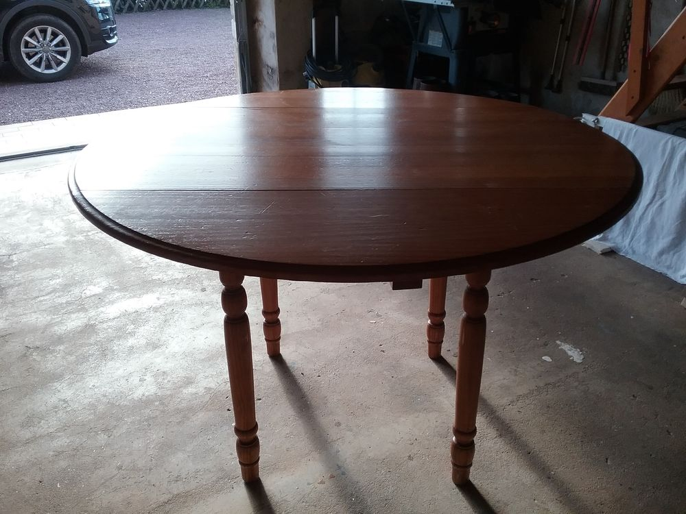 Table de cuisine rabattable en pin 85 Vindefontaine (50)