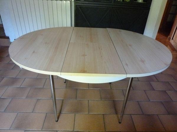 Achetez table de cuisine occasion annonce vente cuxac d 39 aude 11 wb13 - Table cuisine ronde blanche ...