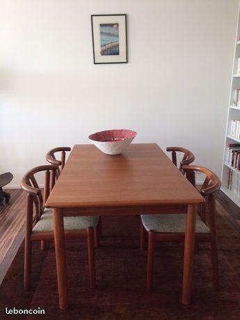 Table danoise 60's et 6 fauteuils de table 790 Paris 20 (75)