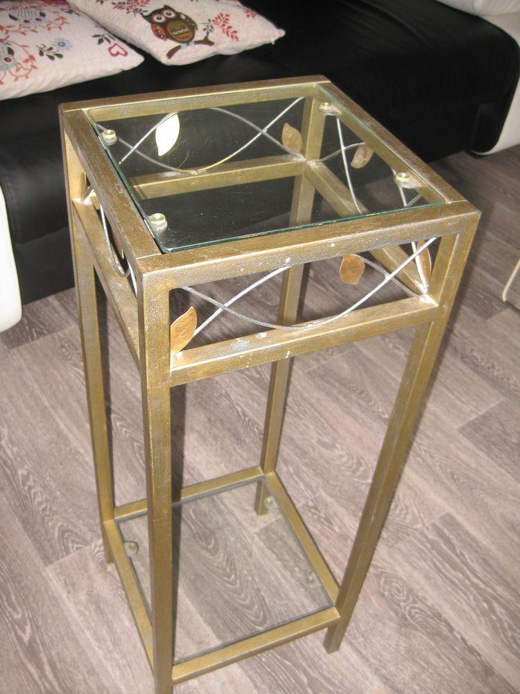TABLE DECO Bronze et verre -peut supporter plante, ou chevet 30 Corbeil-Essonnes (91)