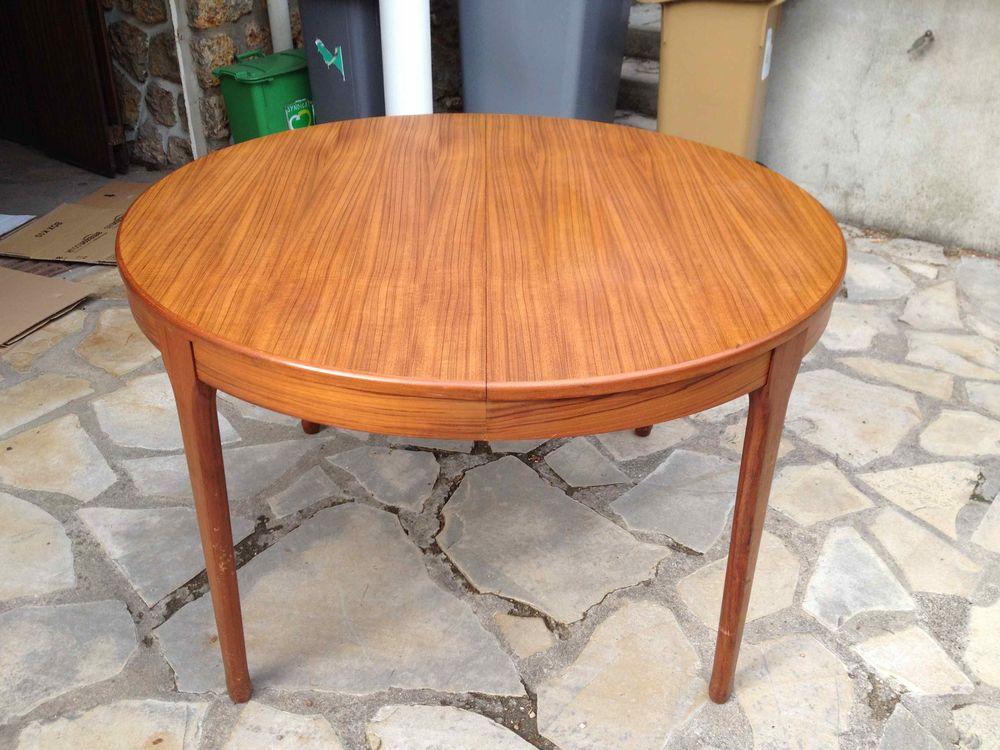 Table Design Scandinave Teck Blond 1960 250 Eaubonne (95)