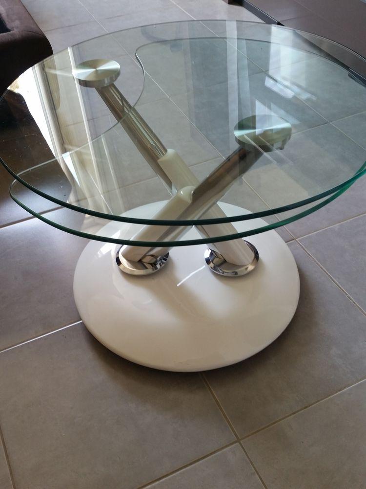 TABLE deux plateaux en verre 150 Saint-Ouen (93)