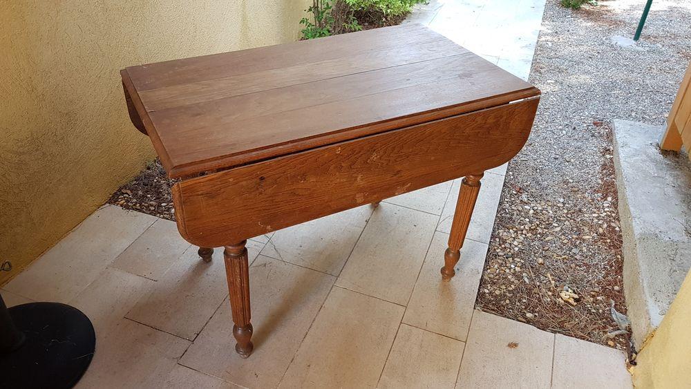 Table a deux rabats style Louis Philippe 230 Éguilles (13)