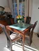 Table à dîner Extensible + 4 chaises 150 Saint-Jean-de-Védas (34)