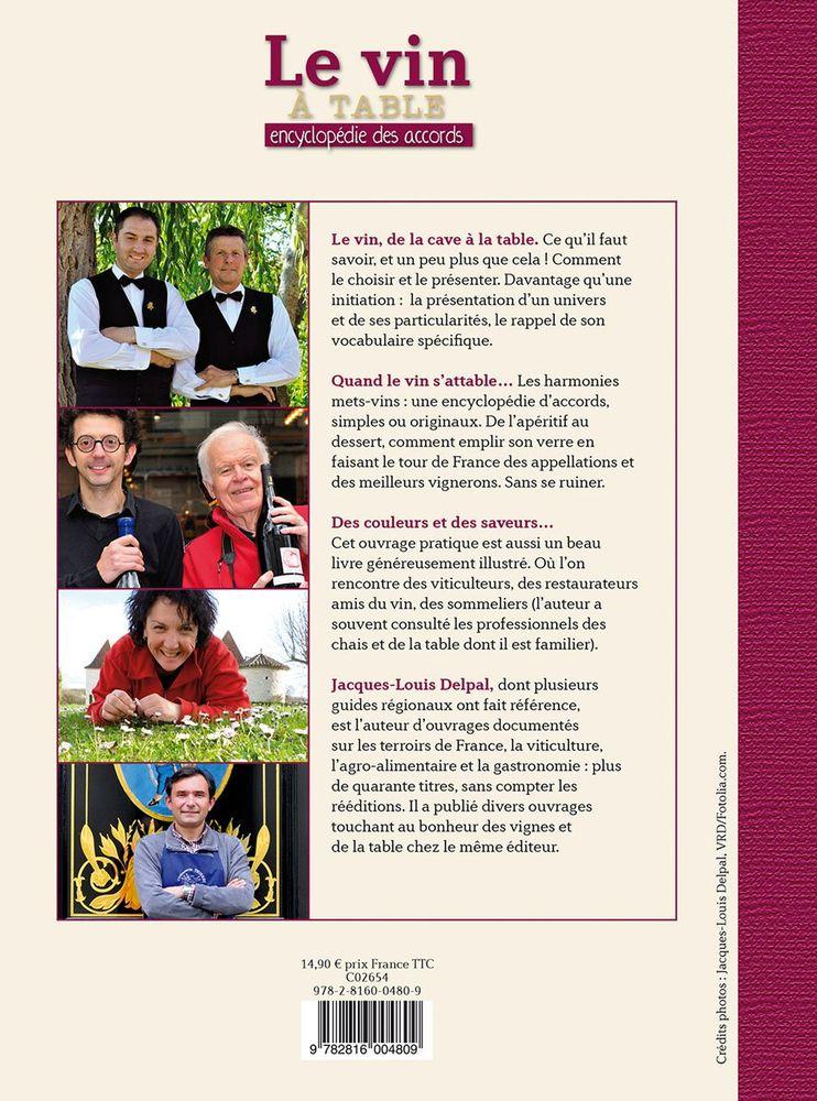 Le vin à table - Encyclopédie des accords - Delpal 8 Nice (06)