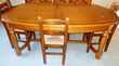 Table familiale en chêne massif Meubles