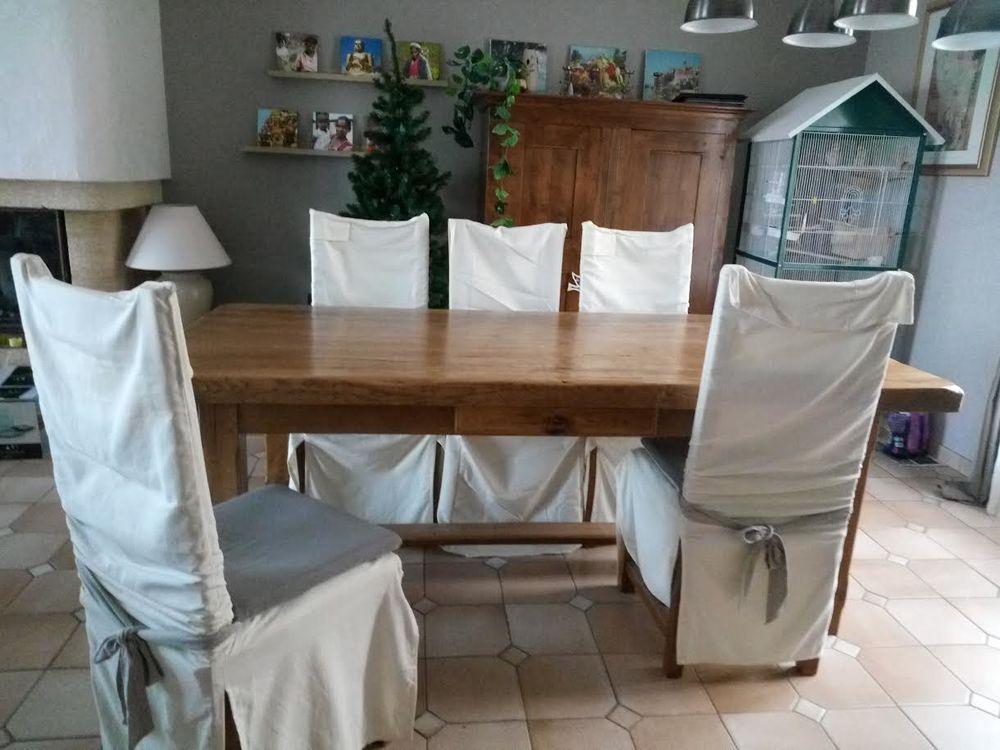 Table de ferme chêne massif + 6 chaises impeccables 350 Saint-Arnoult-en-Yvelines (78)