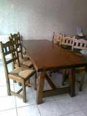 Table de ferme pin massif et 6 chaises 300 Caen (14)