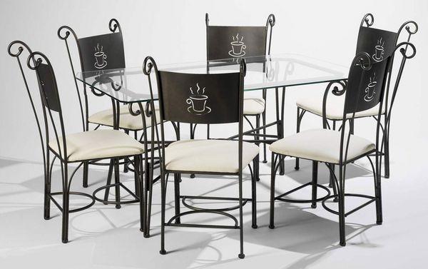Achetez table fer forge quasi neuf annonce vente - Table en verre fer forge et chaises ...