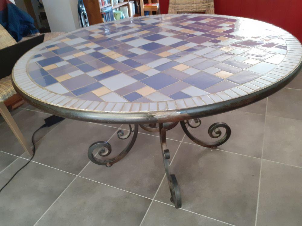 Table fer forgé et céramique 950 Pourcieux (83)