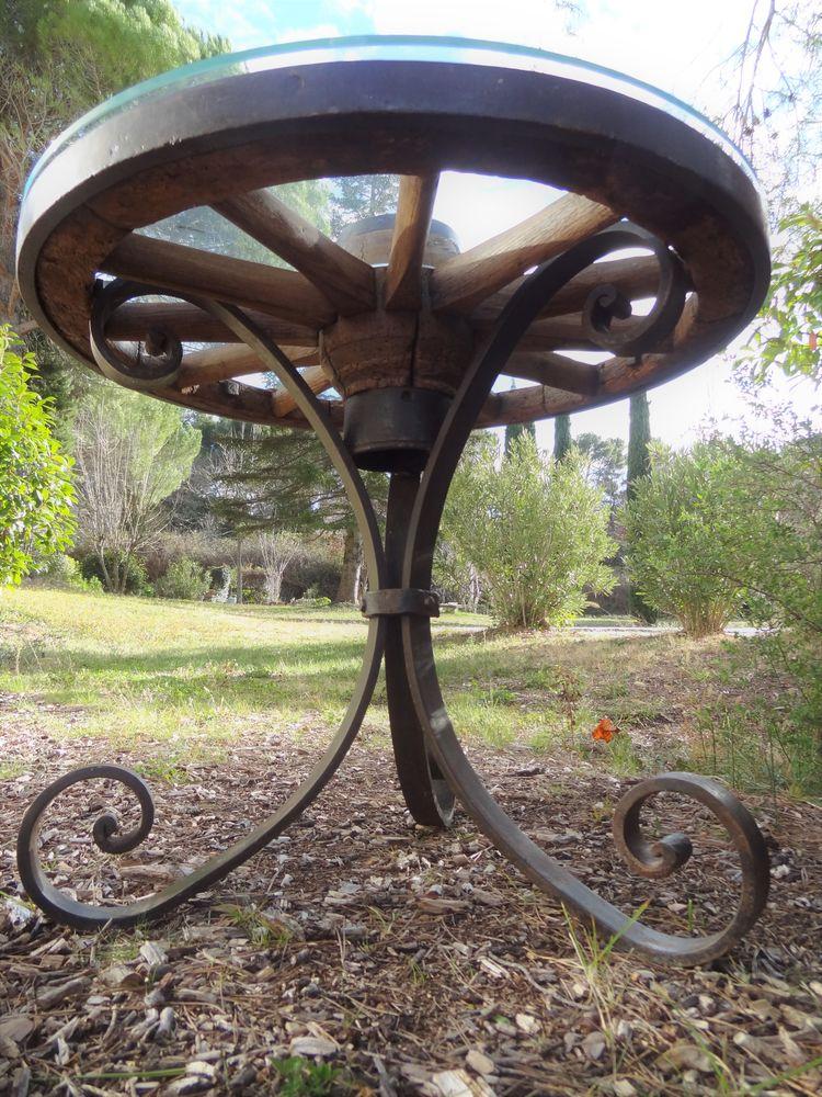 Table en fer forgé ferronnerie d'art 250 Éguilles (13)