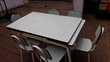 Table en Formica avec rallonge et chaises Meubles