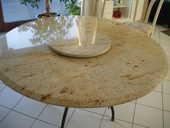 Table en granit ivoire pied fer forgé 0 Ronchin (59)