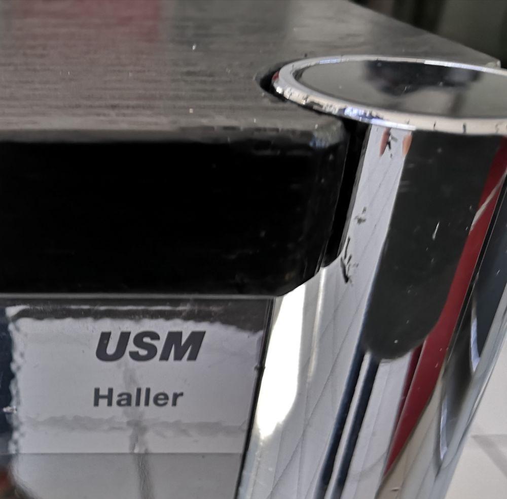 Table usm haller chêne noir vernis 175 /75 450 Provins (77)