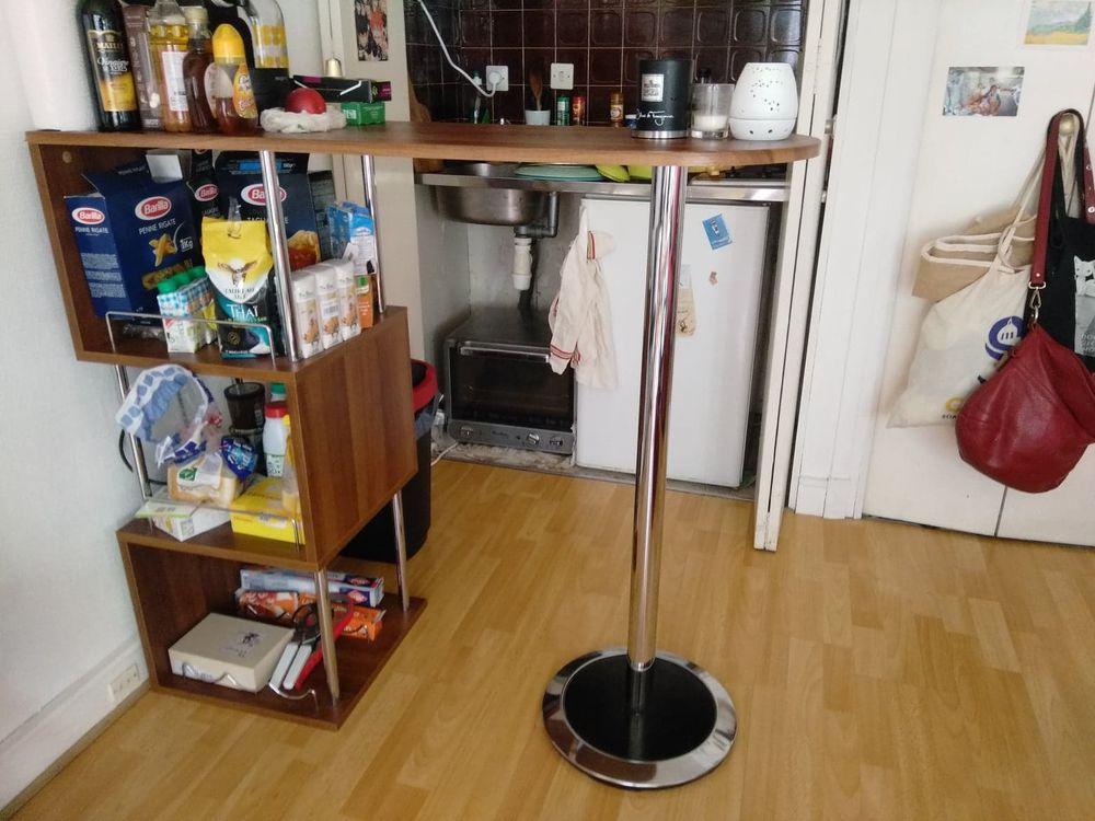 Table haute de bar en bois/métal (très bon état) 80 Paris 20 (75)