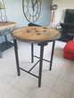 Table haute ou mange debout style industriel
