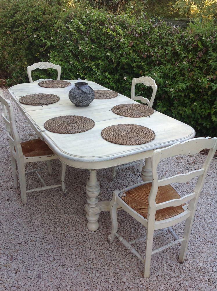 TABLE Henry II et chaises Louis VX 200 Pignans (83)