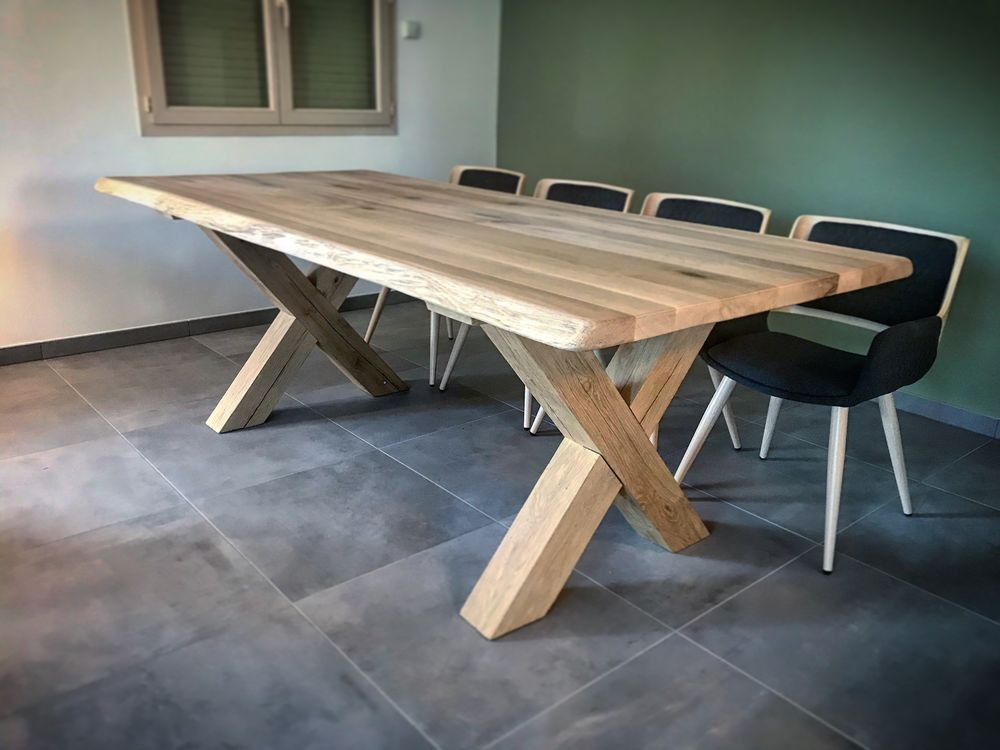 Table Industrielle Bois Metal Sur Mesure