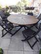 table de jardin en accasias ronde 0 Saint-Maurice-de-Beynost (01)