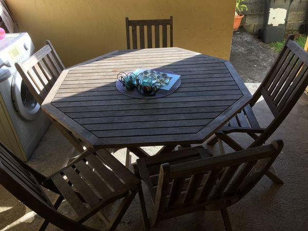 Achetez table de jardin occasion annonce vente saint joseph 97 wb149761336 - Table jardin balcon saint paul ...