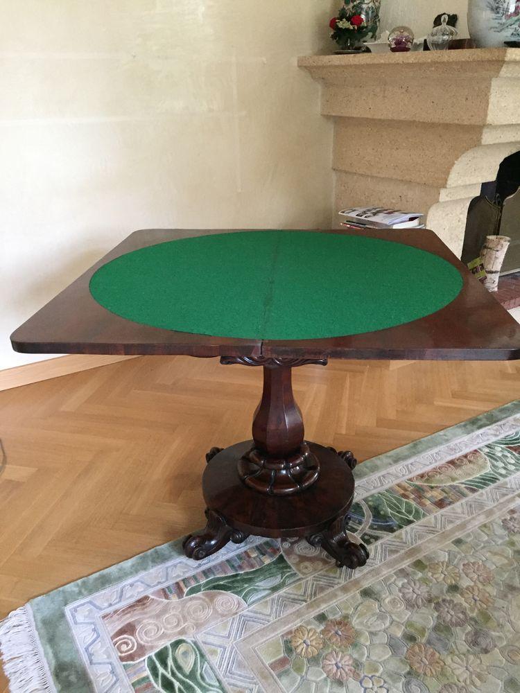 table de jeux Anglaise acajou  500 Beynost (01)