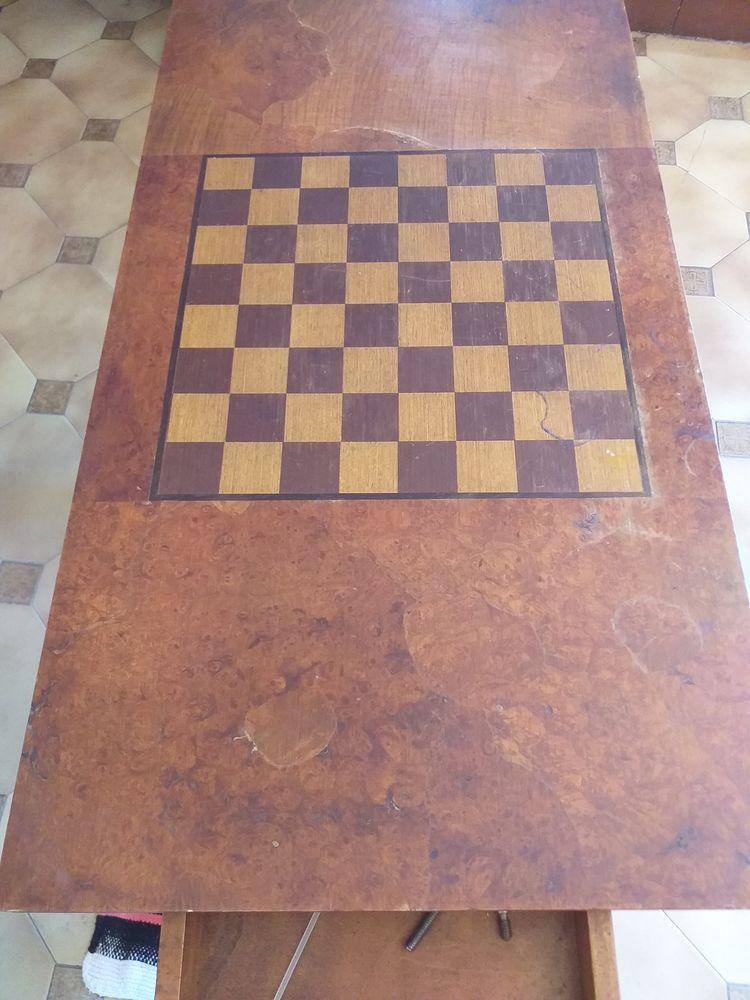 Table de jeux en merisier 150 Marseille 1 (13)