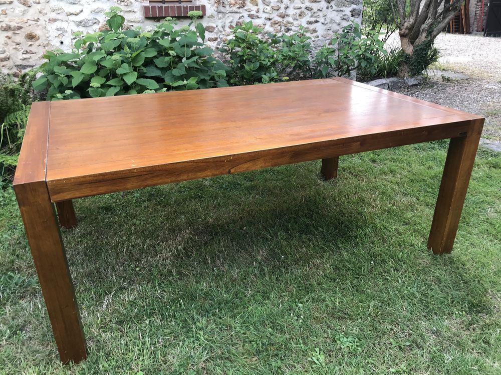 Table à manger en bois 200x120cm Bois tropical 250 Versailles (78)